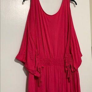 Lane Bryant Fuschia summer dress